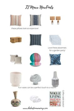 Home Picks on a Budget From T.J Maxx Vogue Living, Coffee Table Books, Glass Texture, Blue Pillows, Towel Set, Tj Maxx, Home Goods, Budgeting, Budget Organization