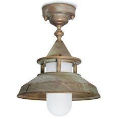 Tuscanor - Brass Porch Flush Light - TUS129