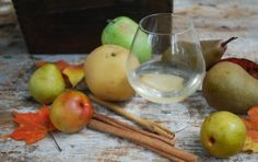 Spiced pear cocktails. Perfect for fall.