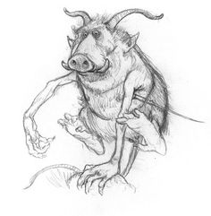 I'm here to tell you that Warthogs will one day rule the world! - Jean-Baptiste Monge illustration.