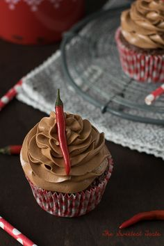 The Sweetest Taste: Cupcakes de chocolate picantes