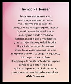 tiempo pa pensar - Mala Rodriguez Mala Rodriguez Frases, My Hero, Cool Pictures, Sad, Nice, Quotes, Inspiration, Song Lyrics, Bruges