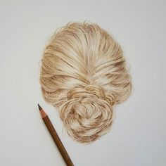 Finished! I'm starting to like drawing hair  I used 4 polychromos pencils and a pencil eraser! Tutorial coming soon...
