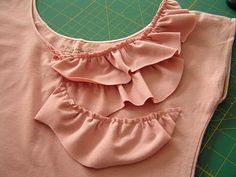 cutest DIY plain Teeshirt to ruffle bliss!