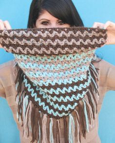 Crochet Fringed Cowl Free Pattern