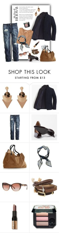 """""""541"""" by believelikebreathing ❤ liked on Polyvore featuring J.Crew, Point Sur, Paul Smith, Mark & Graham, Burberry, TOKYObay, Bobbi Brown Cosmetics and Benefit"""