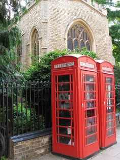 Red Phone boxes by whistlepunch, via Flickr