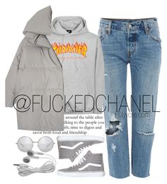 Les vibez. by fuckedchanel on Polyvore featuring polyvore moda style Levi's Vans fashion clothing