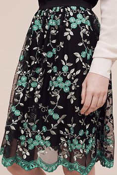Greenery Lace Skirt - anthropologie.com