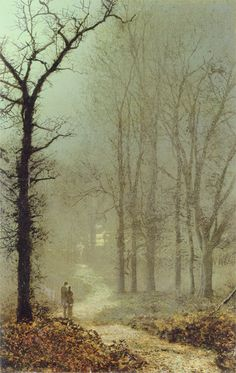 File:John Atkinson Grimshaw - Lovers in a Wood. Atkinson Grimshaw, Moonlight Painting, Portrait Pictures, Classical Art, Landscape Art, Beautiful Landscapes, Les Oeuvres, Fine Art Prints, Scenery