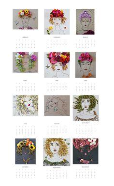 Sister Golden 2016 Flower Face Calendar