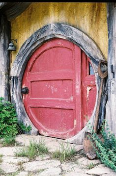 An actual working Hobbit house door in the UK!