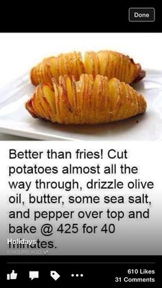 Tip: put a chopstick on either side of the potato & you won't accidentally cut all the way thru.#grilledpotatoes