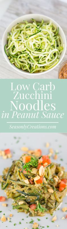 Have you ever tried zucchini noodles? This low carb zucchini noodles recipe with peanut sauce makes a great side dish or appetizer to end the summer and welcome fall, the perfect opportunity to try them out! Each serving us just 5.4g net carbs and is super quick and easy to whip up after a long work day.
