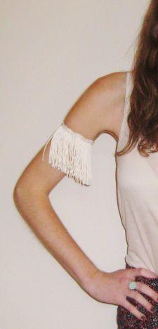 Ivory Fringe Arm Cuff