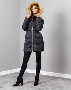 very nice Lipsy Quilted Long Puffer