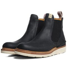 Visvim Gornergrat Mid-Folk  Black    Visvim's Gornergrat boot is the Japanese brand's unique take on the classic Chelsea boot innovatively mixing the iconic silhouette with cutting edge production. Expertly crafted from vegetable-tanned cowhide sleather, the boot features hand-stitched uppers that sit atop a Vibram sole unit. This classically styled boot also features a number of advanced technologies such as memory footbed and TPU heel stabiliser which belie the clean, subtle lines.