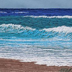 gallery of freehand machine embroidered pictures by UK textile artist Alison Holt using silk painting and freehand machine embroidery