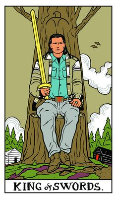 "TOMMY ""HAWK"" HILL, Twin Peaks Tarot by Benjamin Mackey"