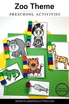 Measure each Zoo Animal -Zoo Theme Preschool Activities