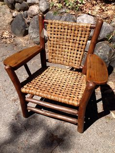 Old Hickory Brown County arm chair excellent condition , highly desirable : Christibys, SOLD