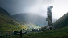 La plus haute tour d'Europe à Vals, un village de 1000 habitants ? #immobilier #suisse