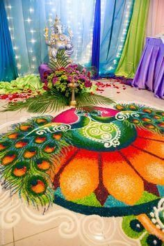 Explore latest easy rangoli design image ideas collection for Diwali. Here are amazing simple rangoli designs to decorate your home this festive season. Easy Rangoli Designs Videos, Rangoli Designs Latest, Latest Rangoli, Rangoli Designs Images, Rangoli Designs Diwali, Diwali Rangoli, Diwali Diy, Diwali Craft, Indian Rangoli