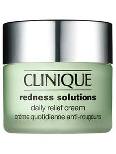 """Clinique Redness Solutions Daily Relief Cream - InStyle Best Beauty Buys 2008 Winner """"This cream contains resveratrol extract, which is a great anti-inflammatory and soothing agent,"""" says N.Y.C. dermatologist Michele S. Green. In essence it treats immediate redness and prevents future flare-ups. $40/1.7 oz."""