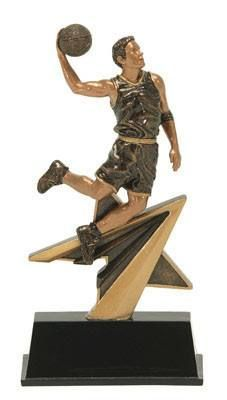 Star Resin Male Basketball Trophy