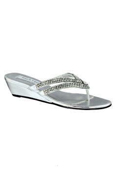 13455fea85afd3 Tango Low Wedge Crystal Sandals Women s Low Heel Sandals