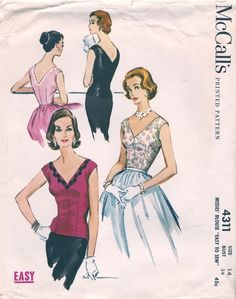 McCall's 4311 ©1957 Blouse