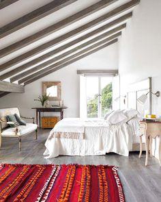 Dormitorio viga    #dormitorios #bedroom #relax