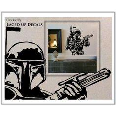 Amazon.com: Boba Fett Star Wars Large Vinyl Wall Decal Sticker