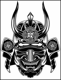 Samurai by mr. Samurai Maske Tattoo, Hannya Samurai, Samurai Armor, Samurai Warrior Tattoo, Japanese Demon Mask, Japanese Mask Tattoo, Japanese Warrior, Japanese Oni, Mascara Samurai Tattoo