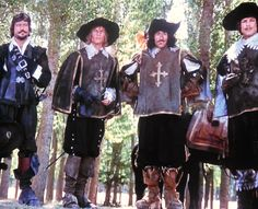 """The Four Musketeers""...Oliver Reed, Michael York, Frank Finlay and Richard Chamberlain...1974"