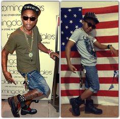Yu does his best Pharrell Williams impression