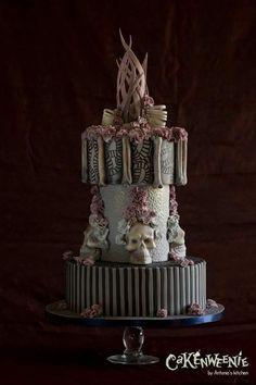 Gothic wedding Cake by Antonio's Kitchen