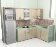 Gambar desain dapur minimalis kecil terbaru for Harga pembuatan kitchen set