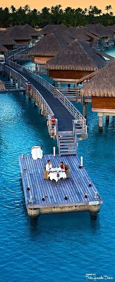 Romantic dinner for two at the InterContinental Bora Bora Resort & Thalasso Spa