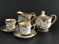 Vintage Hand Painted Japanese Quality Raised Dragon Tea Set
