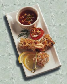 Walnut Crusted Salmon Bites with Apricot Ginger Dipping Sauce - great for on the go.