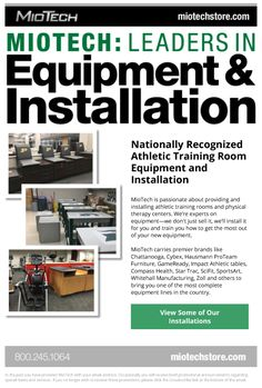 Call MioTech: Leaders in Equipment Installation for Athletic Training Rooms and Physical Therapy Centers Nationwide!