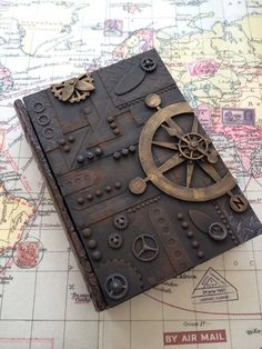 Book of secret, eliminate the impossible. Done as part of an online workshop with Andy Skinner steampunk Steampunk Book, Steampunk Crafts, Steampunk Fashion, Gothic Fashion, Altered Books, Book Crafts, Paper Crafts, The Secret Book, Ball Jointed Dolls