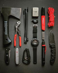 Sometimes it's good to be both formal and informal. You just have to know the right time. My Timex analog/digital on a superb quick… Wilderness Survival, Camping Survival, Camping Gear, Edc Tools, Survival Tools, Bushcraft Kit, Get Home Bag, Edc Gadgets, Edc Tactical