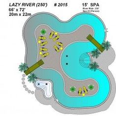 Plans for a backyard lazy river pool, with play areas and deck areas Backyard Lazy River, Lazy River Pool, Backyard Beach, Wedding Backyard, Backyard Pools, Garden Pool, Swimming Pool Designs, Swimming Pools, Piscina Hotel