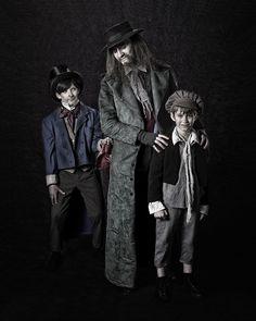 Oliver costume, Fagan costume, Artful Dodger costume, Fagan makeup Rental information: http://www.cytfredericksburg.org/programs/COSTUME-RENTALS-9