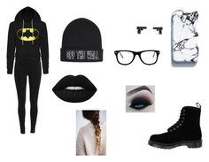"""""""Untitled #88"""" by jessieh9 ❤ liked on Polyvore featuring Vans, Muse, Lime Crime and Dr. Martens"""