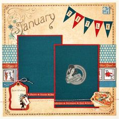 Graphic 45 - Place in Time January Layout - Scrapbook.com