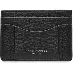 Marc Jacobs Leather Card Holder (470 NOK) ❤ Liked On Polyvore Featuring  Bags,