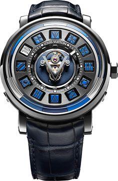 Louis Vuitton Escale Spin Time Central Tourbillon Blue - Perpetuelle